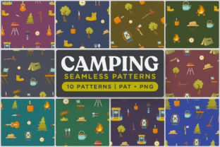 Print on Demand: Outdoor Camping Seamless Patterns Graphic Patterns By Telllu