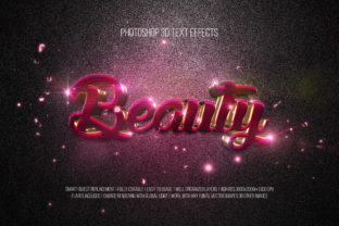 Print on Demand: Photoshop 3D Text Effects (Beauty) Graphic Layer Styles By DigitalPremium