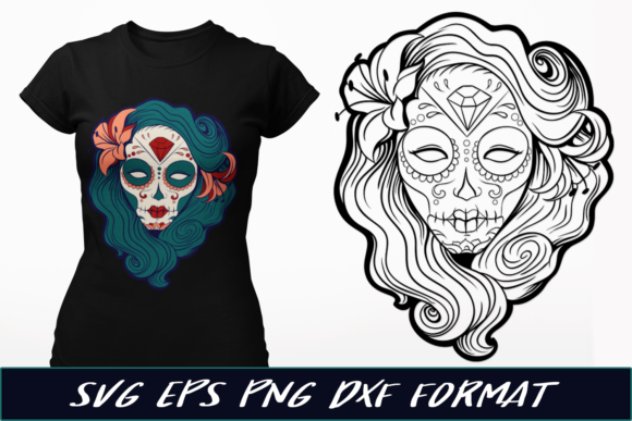 Pin-Up Sugar Skull Graphic Crafts By Craft-N-Cuts