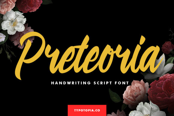 Print on Demand: Preteoria Script & Handwritten Font By typotopia