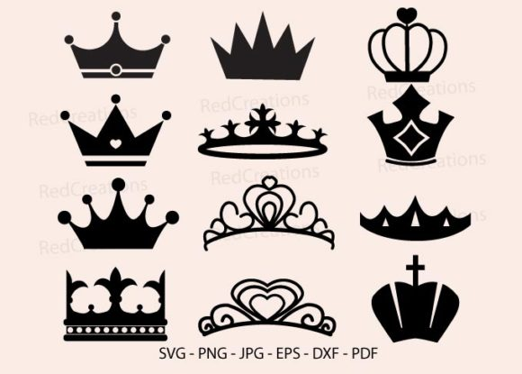 Princess Crown Bundle Graphic Download