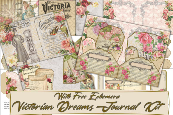 Print on Demand: Printable Vintage Victorian Journal Kit Graphic Crafts By The Paper Princess
