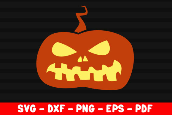 Print on Demand: Pumpkin Smile Evil Face Vector File Graphic Crafts By creativeshohor