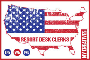 Resort Desk Clerks - USA Map Graphic Crafts By MY Creatives