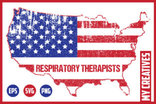 Respiratory Therapists - USA Map Graphic Crafts By MY Creatives