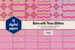 Print on Demand: Scales and Waves Retro W 3 Glitters #14 Graphic Backgrounds By SmartVectorDesign