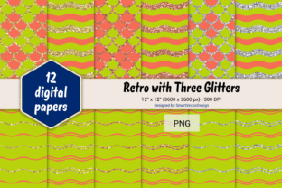 Print on Demand: Scales and Waves Retro W 3 Glitters #31 Graphic Backgrounds By SmartVectorDesign