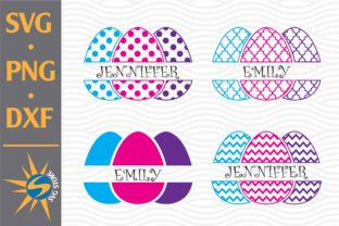 Print on Demand: Split Easter Eggs Graphic Crafts By SVGStoreShop
