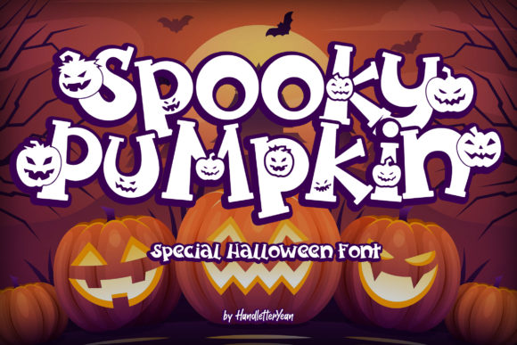 Print on Demand: Spooky Pumpkin Display Font By yean.aguste