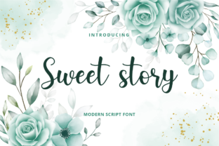 Print on Demand: Sweet Story Script & Handwritten Font By Planetz studio
