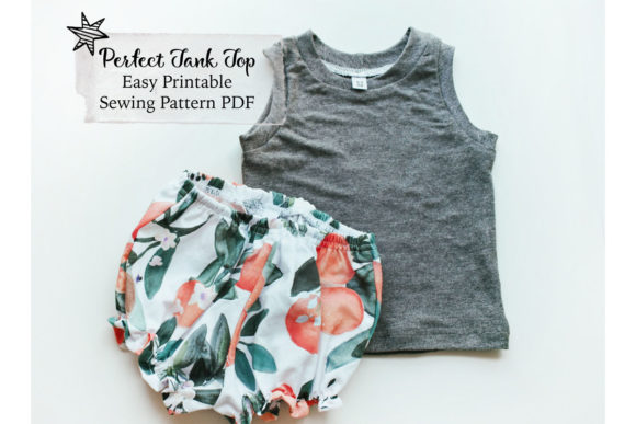 Tank Top Sewing Pattern Graphic