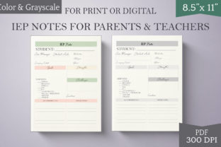 Print on Demand: Teacher Planner Page IEP Notes and Log Graphic Print Templates By Digital to Art