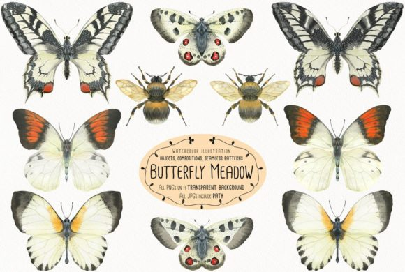 Print on Demand: The Butterfly Meadow Graphic Illustrations By Snowstorm's Box