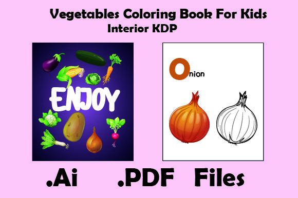 Print on Demand: Vegetables Coloring Book for Kids Graphic KDP Interiors By KDP_Interior_101