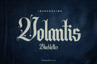 Print on Demand: Volantis Blackletter Font By typotopia