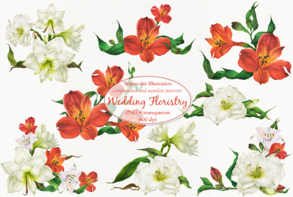 Print on Demand: Wedding Floristry Graphic Illustrations By Snowstorm's Box