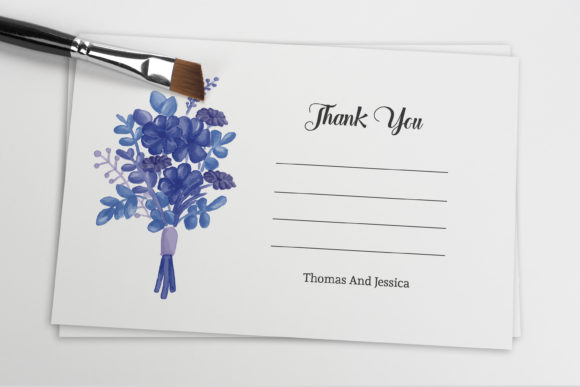 Print on Demand: Wedding Thank You Card Template Graphic Print Templates By sistecbd