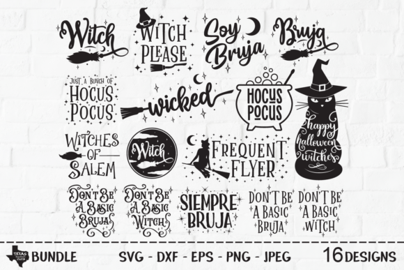 Print on Demand: Wicked Witch Halloween Super Bundle Graphic Crafts By texassoutherncuts