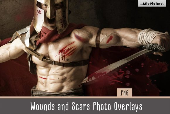 Print on Demand: Wounds and Scars Overlays Graphic Layer Styles By MixPixBox