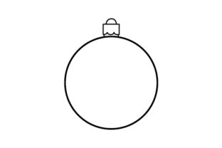 Bauble Template Christmas Craft Cut File By Creative Fabrica Crafts