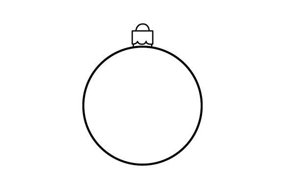 Bauble Template Weihnachten Plotterdatei von Creative Fabrica Crafts