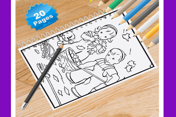 20 Autumn Coloring Pages for Kids Graphic Coloring Pages & Books Kids By Coloring World