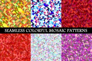 Seamless Colorful Mosaic Patterns Graphic Patterns By davidzydd