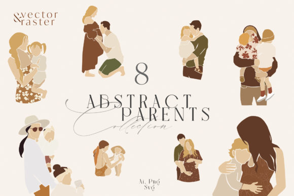 Abstract Parents Clipart Graphic Illustrations By NassyArt