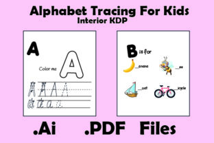 Print on Demand: Alphabet Handwriting Practice Workbook Graphic KDP Interiors By KDP_Interior_101