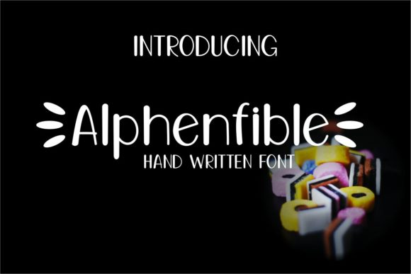 Print on Demand: Alphenfible Script & Handwritten Font By Pidco.art