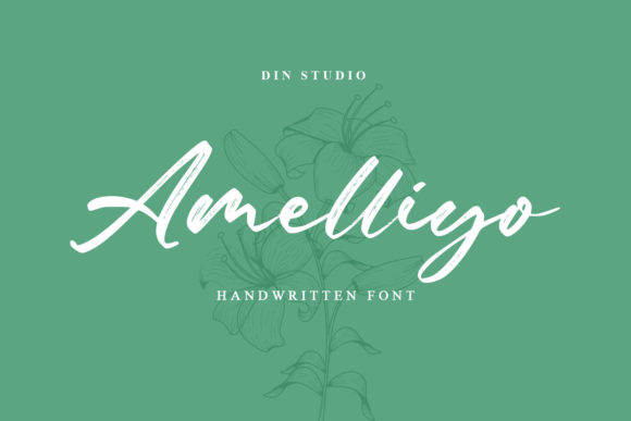 Print on Demand: Amelliyo Script & Handwritten Font By Din Studio