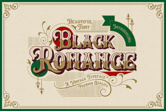 Print on Demand: Black Romance Blackletter Font By naulicrea