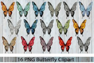 Butterfly Clipart - Glitter Graphic Illustrations By LeskaHamatyDesign