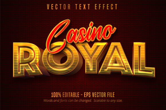 Print on Demand: Casino Royal, Golden Style Text Effect Graphic Graphic Templates By Mustafa Bekşen