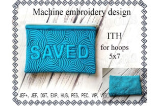 Cosmetic Bag in the Hoop - Saved Sewing & Crafts Embroidery Design By ImilovaCreations