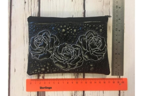 Cosmetic Bag in the Hoop Embroidery Preview