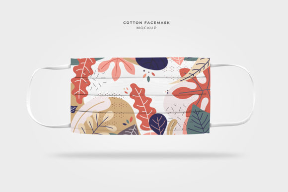 Cotton Face Mask Mockup Template Graphic Print Templates By afahmy