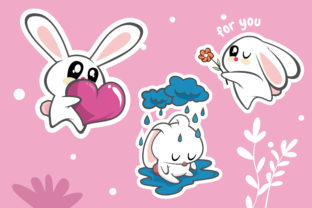 Cute Animal for Sticker Graphic Print Templates By onoborgol