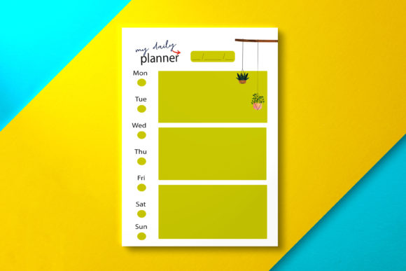 Daily Planner Olive Graphic KDP Interiors By Nickkey Nick