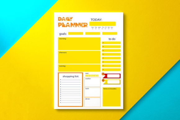 Daily Planner Safari Fire Graphic KDP Interiors By Nickkey Nick