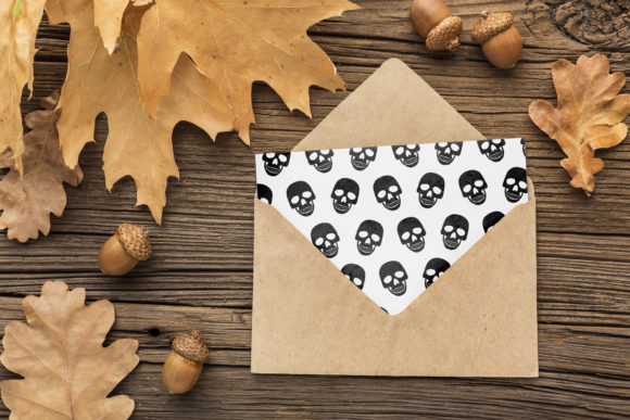 Print on Demand: Halloween Skull and Skeleton Pattern Graphic Patterns By jannta - Image 6