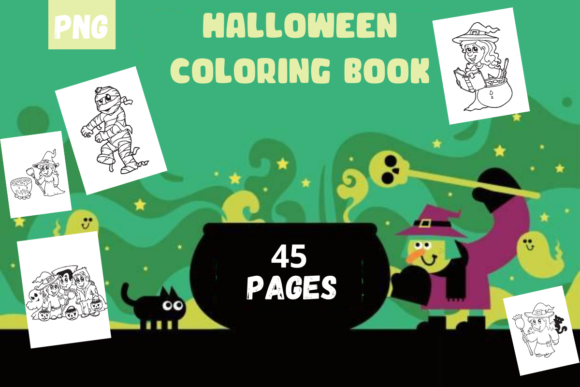 Halloween Coloring Book Pages Graphic Coloring Pages & Books Kids By moufianed