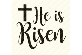 Print on Demand: He is Risen Easter Graphic Graphic Crafts By SVGPlaceDesign