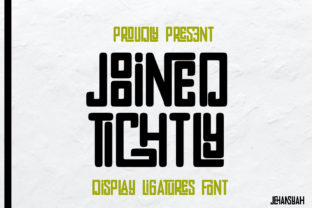 Print on Demand: Joined Tightly Display Font By jehansyah251