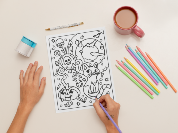 Print on Demand: KDP | Halloween Coloring Book for Kids 1 Graphic Coloring Pages & Books Kids By MikeToon Studio - Image 3