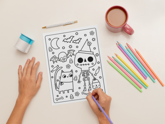 Print on Demand: KDP | Halloween Coloring Book for Kids 1 Graphic Coloring Pages & Books Kids By MikeToon Studio - Image 8