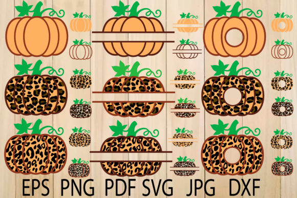 Print on Demand: Leopard Pumpkin,Thanksgiving Day Graphic Crafts By yulnniya