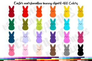 Marshmallow Bunny Easter Candy Clipart Graphic Illustrations By bestgraphicsonline