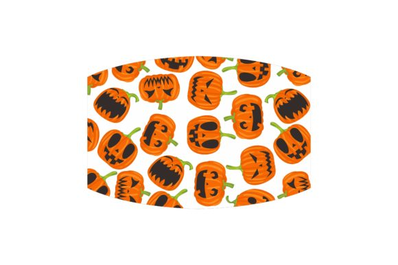 Mask with Halloween Theme Design Set Graphic Download