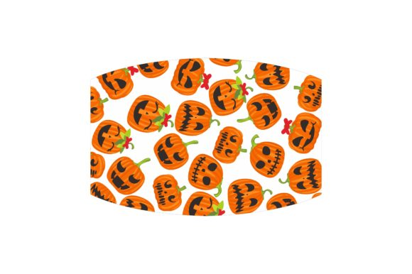 Mask with Halloween Theme Design Set Graphic Preview